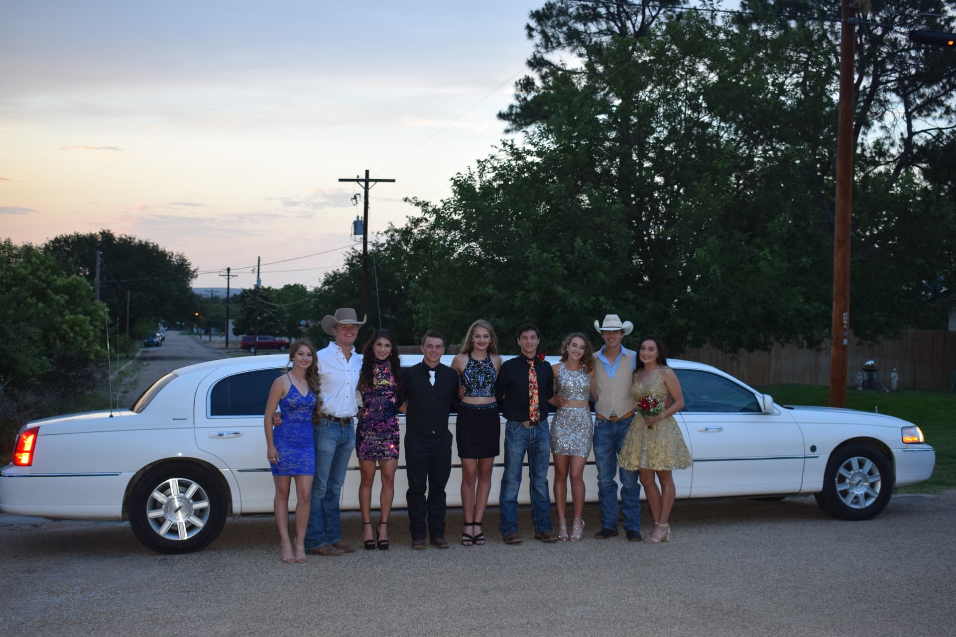 home coming limo rental fredericksburg Texas